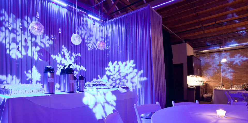 Corporate christmas party decorations